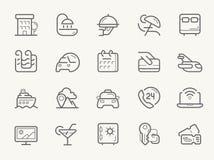 Hotellservicelinje symboler vektor illustrationer