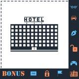 Hotellsymbolsl?genhet royaltyfri illustrationer