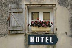 hotelltecken Arkivfoto