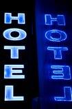 hotelltecken Fotografering för Bildbyråer