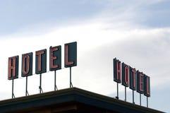 hotelltecken royaltyfria foton