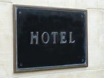 hotelltecken Royaltyfri Bild