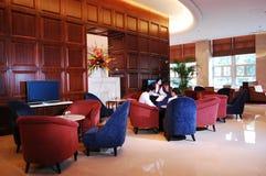 Hotellvardagsrumen bommar för Fotografering för Bildbyråer