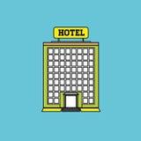 Hotellvektorillustration, vektorsymbol Royaltyfri Bild