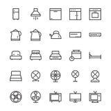 Hotellvektorsymboler 3 royaltyfri illustrationer