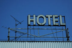 Hotelneon Lizenzfreies Stockbild