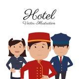 Hotelontwerp, vectorillustratie Royalty-vrije Stock Afbeelding