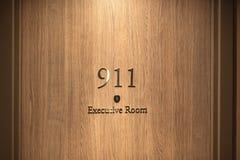 Hotelowa drzwi liczba, zamyka w górę wizerunku Zdjęcie Royalty Free