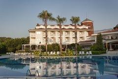 Hotelowa Larissa sułtanu plaża w Camyuva Obrazy Royalty Free