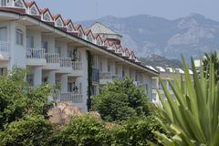 Hotelowa Larissa sułtanu plaża w Camyuva Zdjęcia Royalty Free
