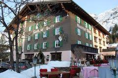 Hotelowa Restauracyjna Gasthof poczta w Lechu zdjęcia stock