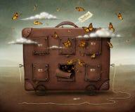 Hotelowa walizka Zdjęcia Royalty Free