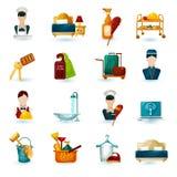 Hotelowe gospoś ikony Fotografia Stock