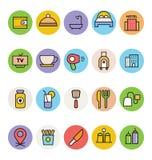 Hotelowe i Restauracyjne Wektorowe ikony 4 Zdjęcie Royalty Free