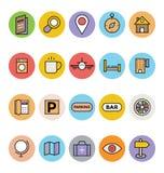 Hotelowe i Restauracyjne Wektorowe ikony 2 Zdjęcie Royalty Free