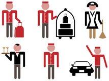 Hotelowe ikony ilustracja wektor