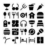 Hotelowe & Restauracyjne Wektorowe ikony 9 Obraz Royalty Free