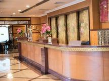 Hotelowej informaci kontuar Obrazy Royalty Free