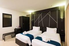 Hotelowi bliźniaczy łóżka Obrazy Stock
