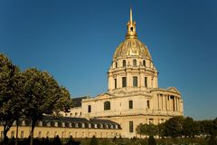 hotelowi Des invalides Paris Obraz Royalty Free
