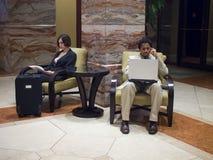 Hotelowi goście Zdjęcia Royalty Free