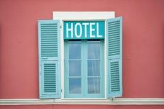 hotelowi okno Obraz Royalty Free