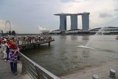 Hotelowi w Singapur Podpalani Marina Piaski Obraz Royalty Free