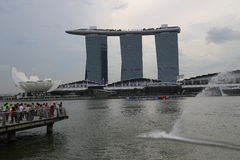Hotelowi w Singapur Podpalani Marina Piaski Zdjęcie Royalty Free