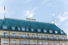 Hotelowy Adlon w Berlin Ja jest częścią Kempinski grupa i Obrazy Royalty Free