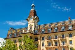 Hotelowy Aulac, historyczny budynek w Lausanne Fotografia Stock