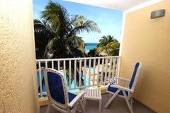 Hotelowy balkon Zdjęcia Royalty Free