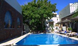 Hotelowy basen Grecja Fotografia Stock