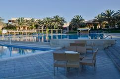 Hotelowy basen w Egipt obrazy stock