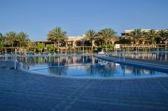 Hotelowy basen w Egipt obraz royalty free