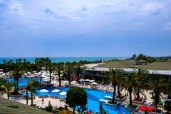 Hotelowy basenu widok obrazy royalty free