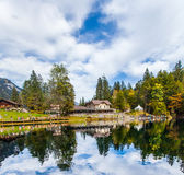 Hotelowy Blausee, Szwajcaria Obraz Stock