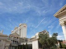 hotelowy caesars palace zewnÄ™trzny widok w Las Vegas, Nevada w dniu obraz royalty free