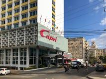 Hotelowy Capri - Hawański, Kuba Zdjęcie Stock