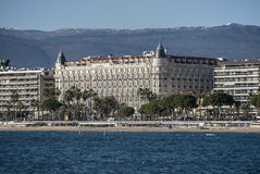 Hotelowy Carlton Cannes zdjęcie royalty free