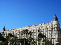 Hotelowy Carlton Międzykontynentalny w Cannes, Francja zdjęcie royalty free