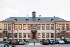 Hotelowy De Ville urzędu miasta budynek w Thann Francja Alsace Zdjęcia Stock