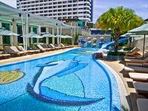 hotelowy dzieciaka basenu dopłynięcie fotografia stock