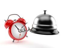 Hotelowy dzwon z budzikiem royalty ilustracja