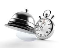 Hotelowy dzwon z stopwatch ilustracji