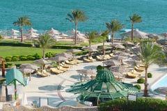 hotelowy Egypt kurort Obraz Royalty Free