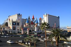 Hotelowy Excalibur, Las Vegas Obraz Stock