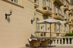 Hotelowy façade obraz stock