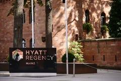 Hotelowy Hyatt Regency Mainz Obrazy Stock
