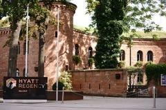 Hotelowy Hyatt Regency Mainz Zdjęcia Royalty Free