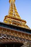Hotelowy i Kasynowy paryski Las Vegas Zdjęcia Royalty Free